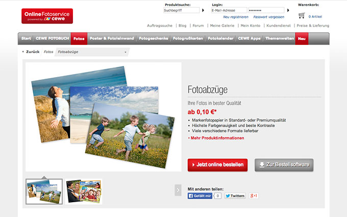 Fotoabzüge online bestellen